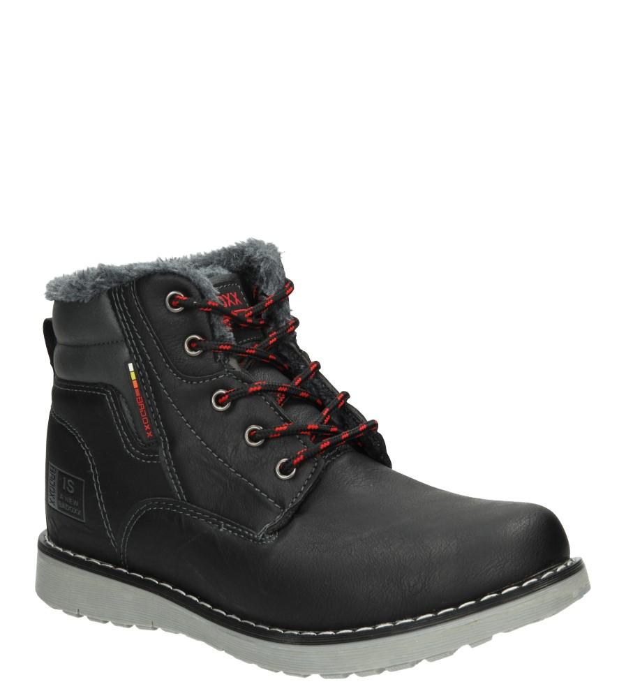 Męskie TRZEWIKI LXC6776-W czarny;czerwony;