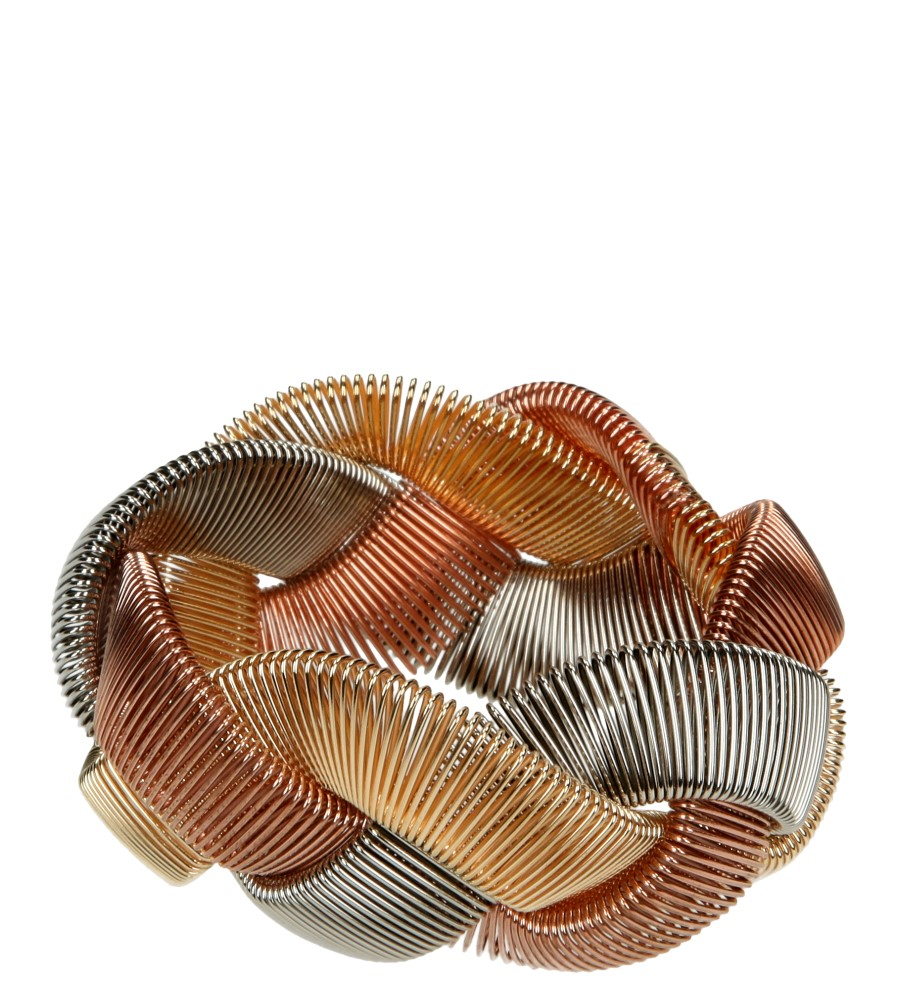 Damskie BRANSOLETA 00185 złoty;brązowy;srebrny