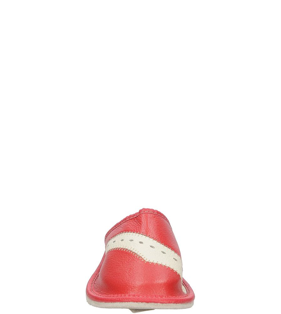 Kapcie Casu D-28 kolor czerwony, kremowy