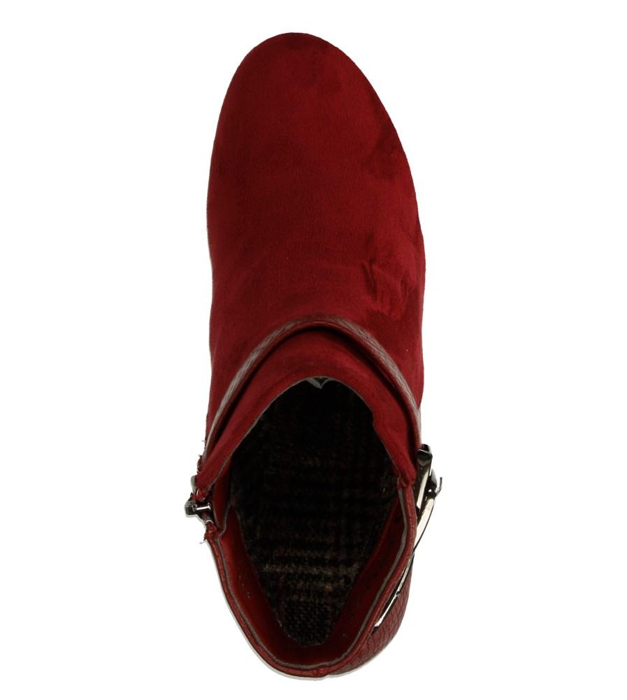 Damskie BOTKI CASU TT11P czerwony;;