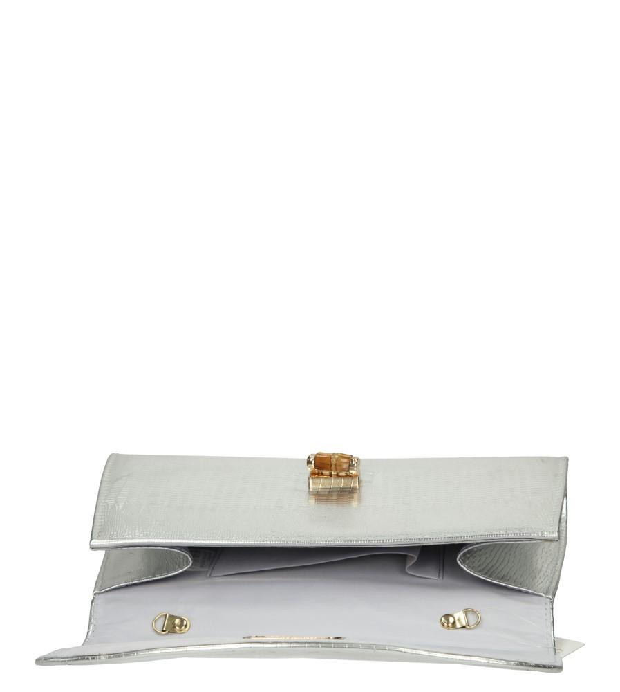 TOREBKA WIZYTOWA H6105 kolor srebrny