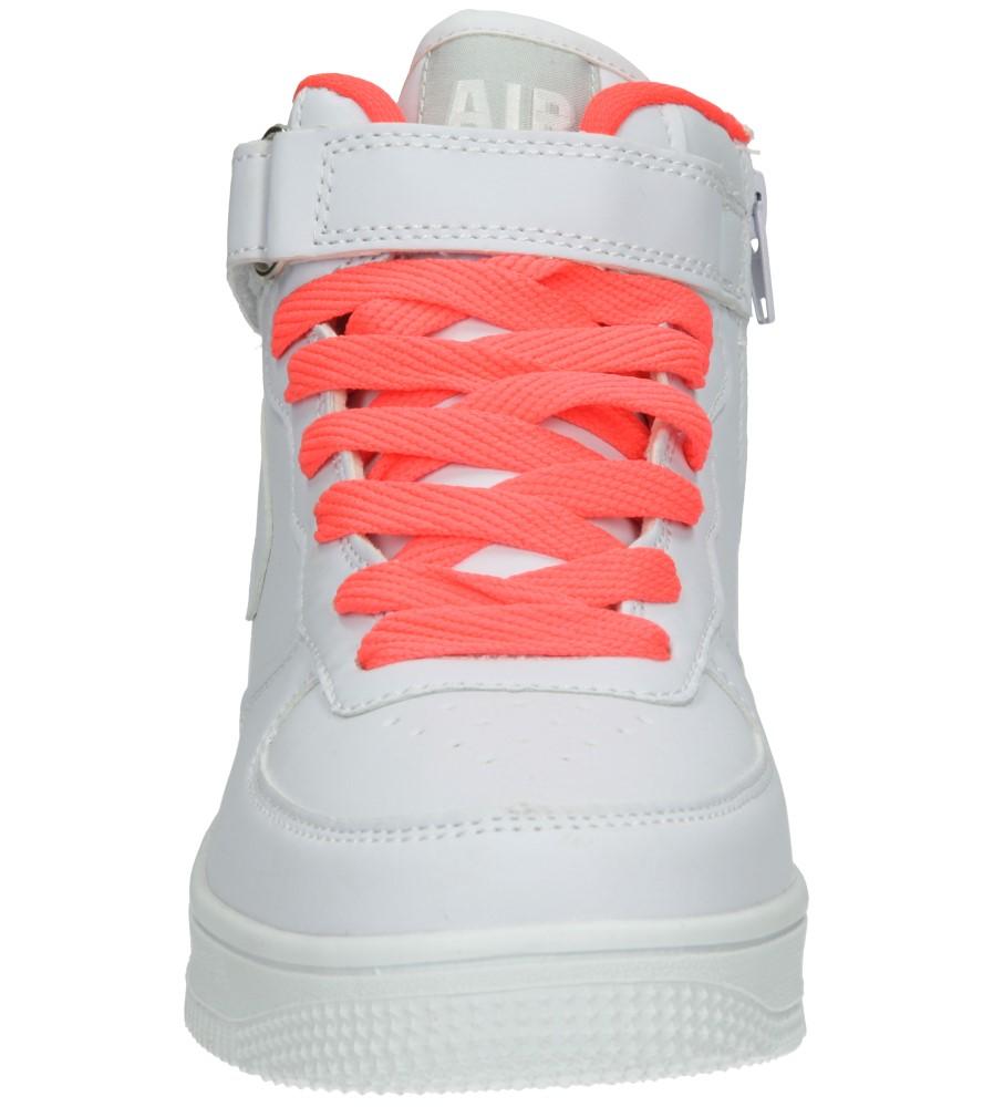 Dziecięce SPORTOWE 3XC7022 biały;pomarańczowy;