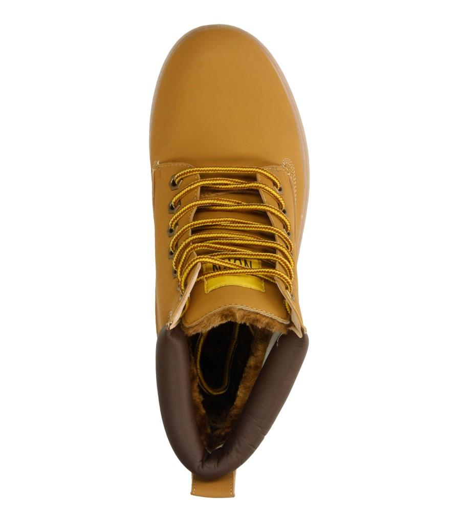 Męskie TREKKINGOWE CASU B8991-19 żółty;;