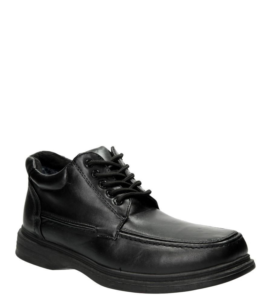 Męskie TRZEWIKI CASU B675 czarny;;