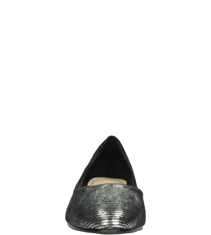 Damskie BALERINY W.POTOCKI RB16-443DATBA srebrny;czarny;