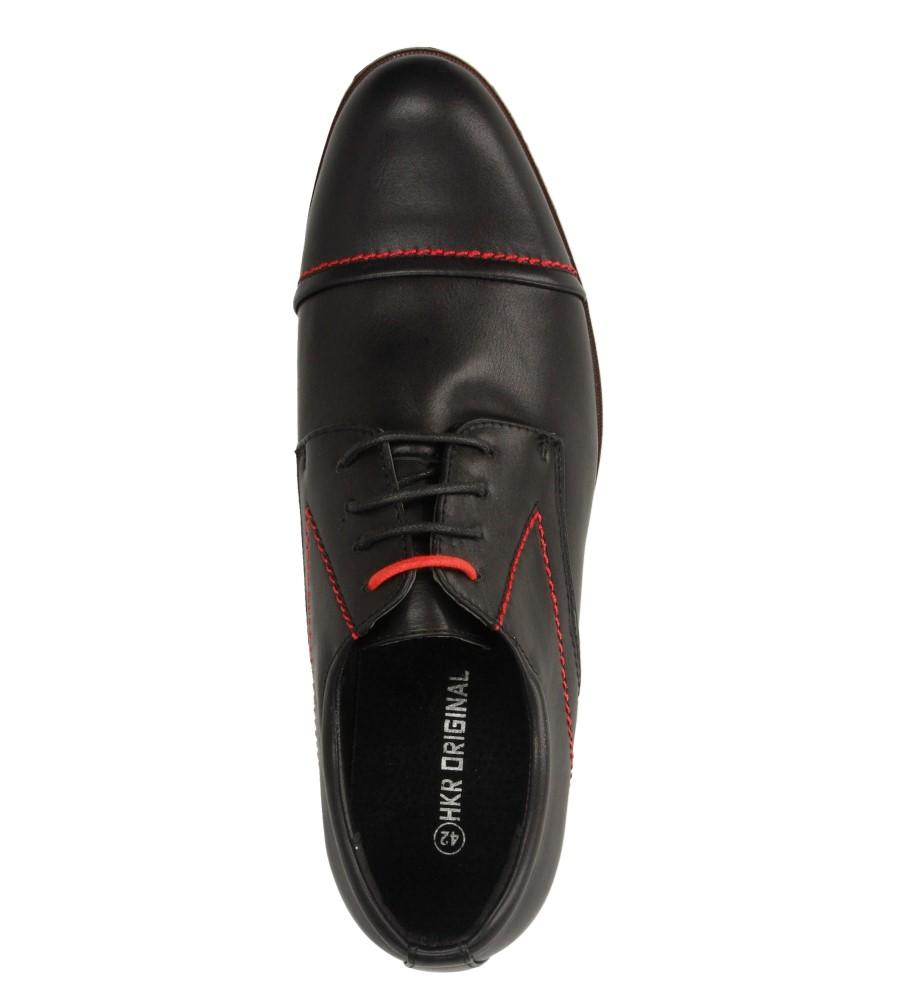 Męskie WIZYTOWE CASU 9F-BK85860 czarny;czerwony;
