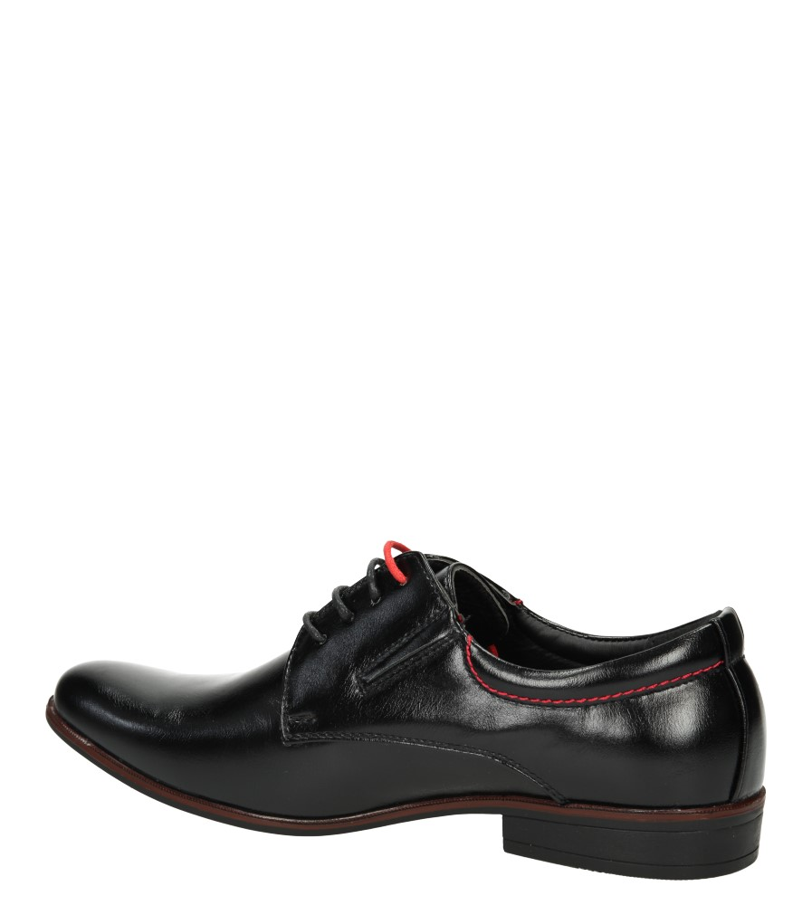 Męskie WIZYTOWE CASU 9F-BK85874 czarny;czerwony;