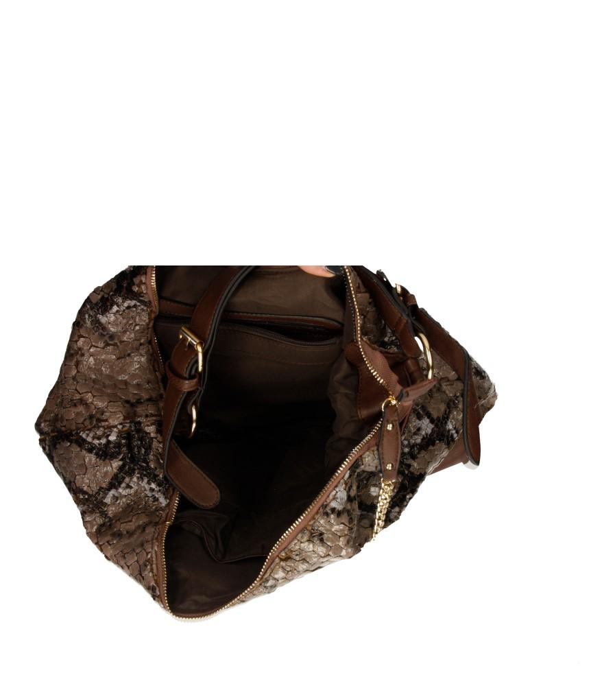 Damskie TOREBKA W-8739 brązowy;;