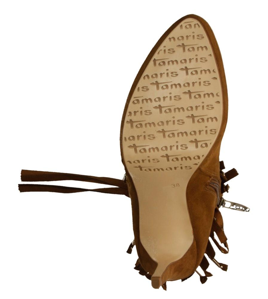 Damskie BOTKI TAMARIS 1-25339-35 brązowy;;