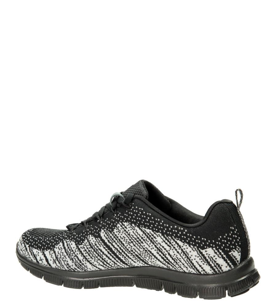 SPORTOWE SKECHERS 12060 kolor czarny, srebrny