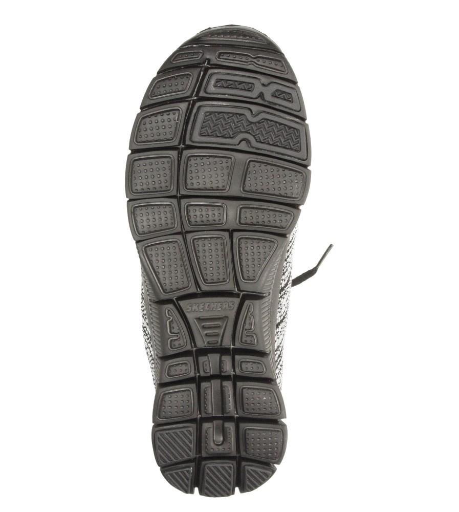 Damskie SPORTOWE SKECHERS 12060 czarny;srebrny;