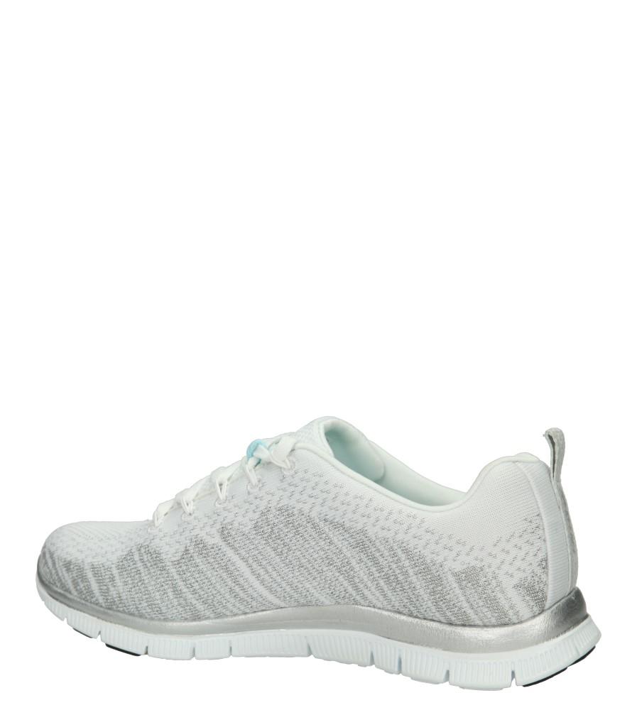 SPORTOWE SKECHERS 12060 kolor biały, srebrny