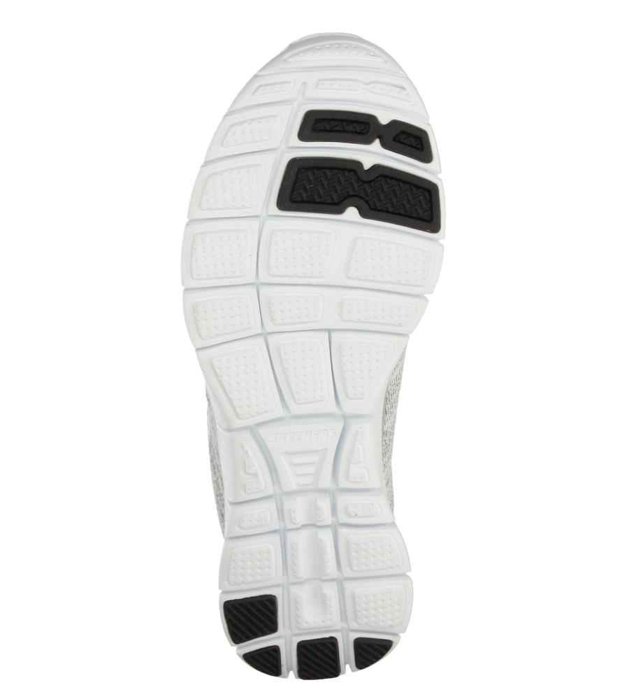 Damskie SPORTOWE SKECHERS 12060 biały;srebrny;