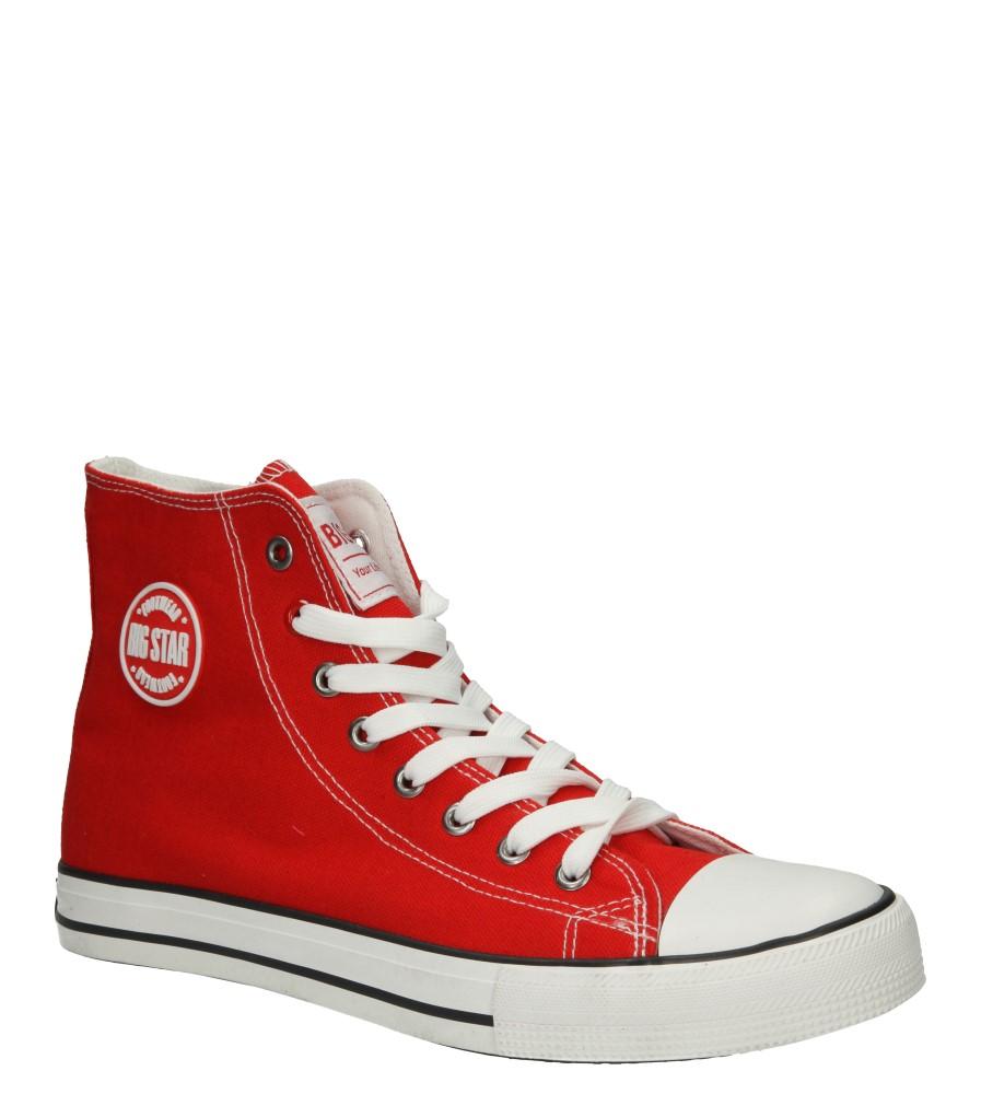 Męskie TRAMPKI BIG STAR T174104 czerwony;;