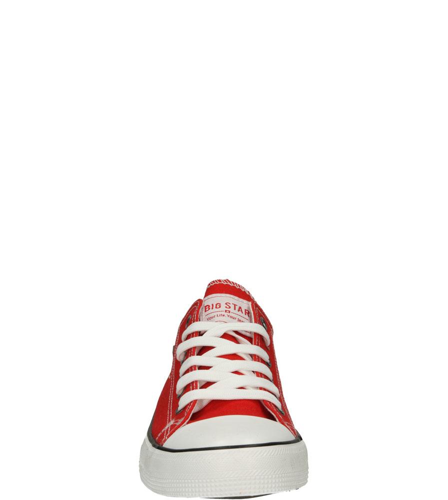 Trampki sznurowane Big Star T17410 kolor czerwony