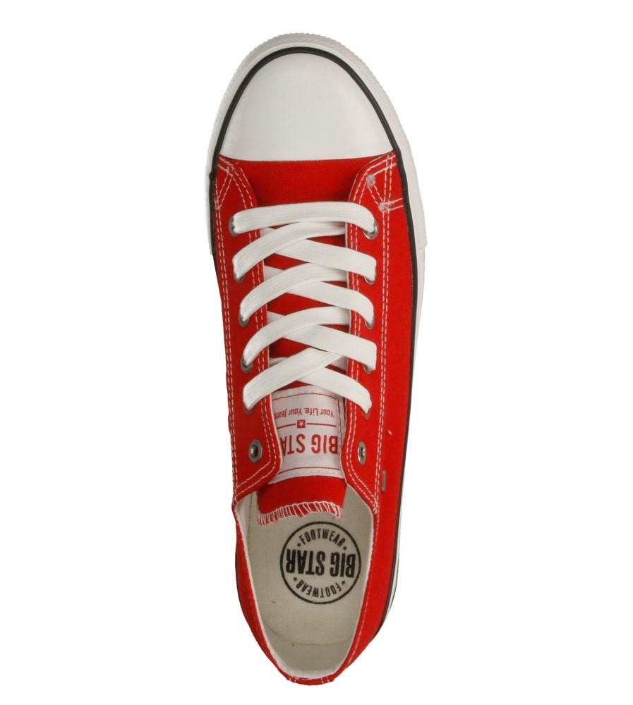Męskie TRAMPKI BIG STAR T174100 czerwony;;