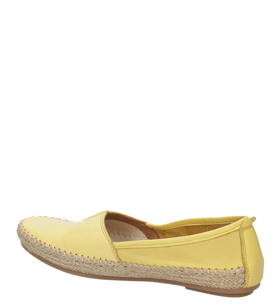 Damskie ESPADRYLE JANA 8-24601-26 żółty;;