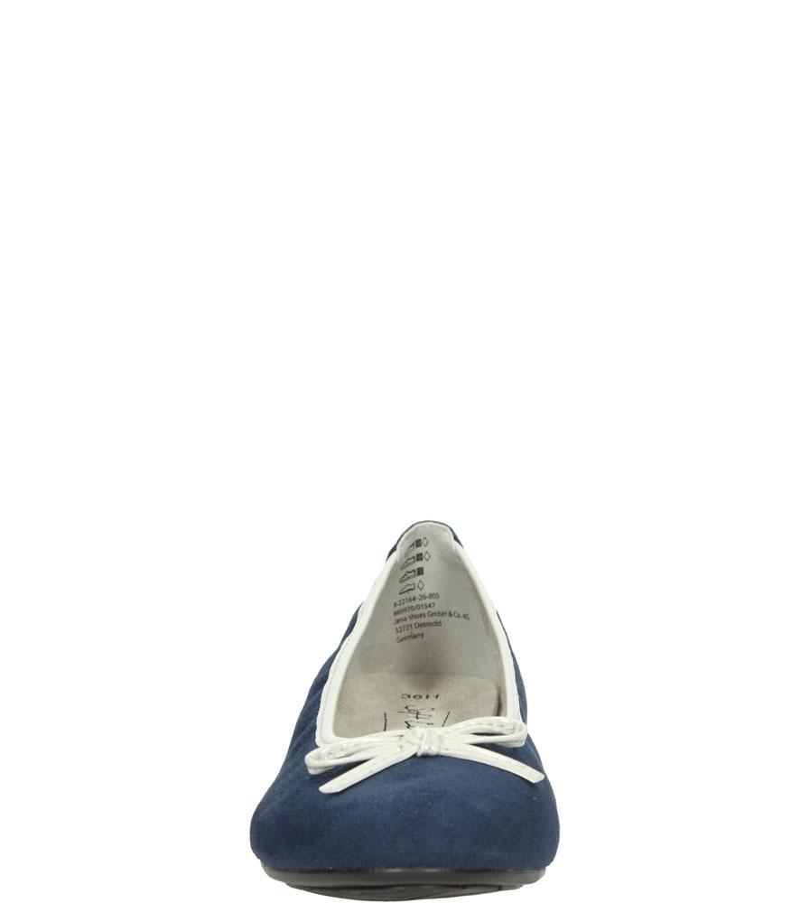 Damskie BALERINY JANA 8-22164-26 niebieski;;