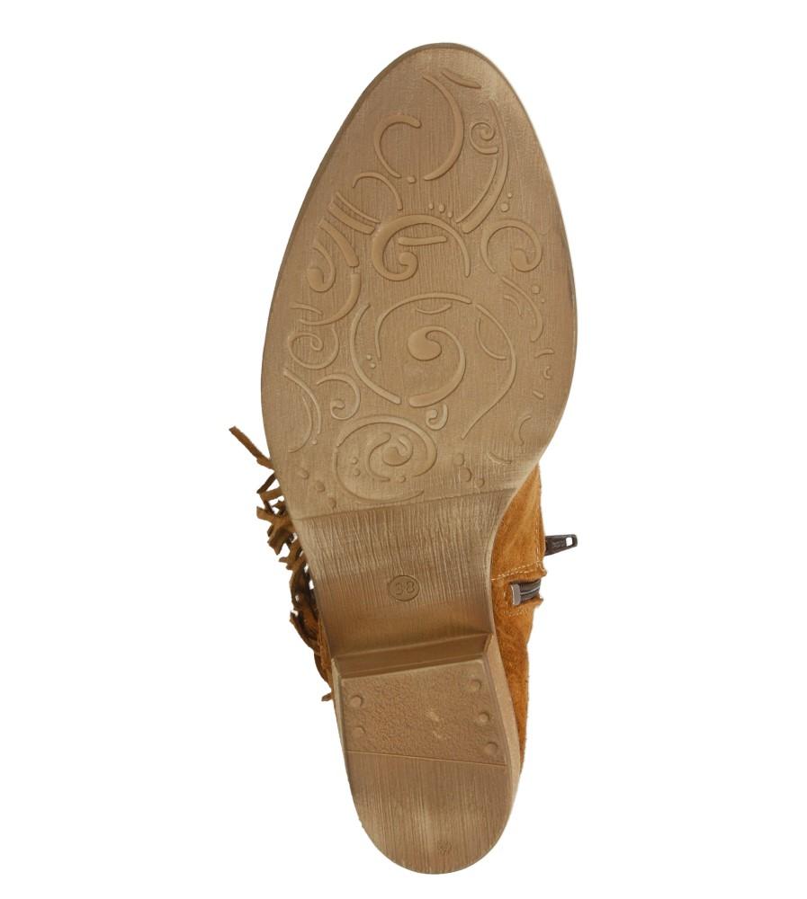 Damskie BOTKI TAMARIS 1-25407-36 brązowy;;