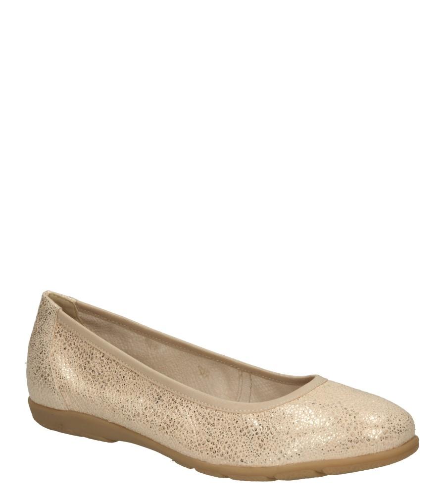 Damskie BALERINY CAPRICE 9-22150 beżowy;złoty;