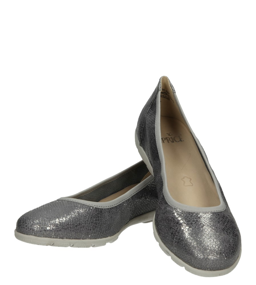 Damskie BALERINY CAPRICE 9-22150 szary;srebrny;