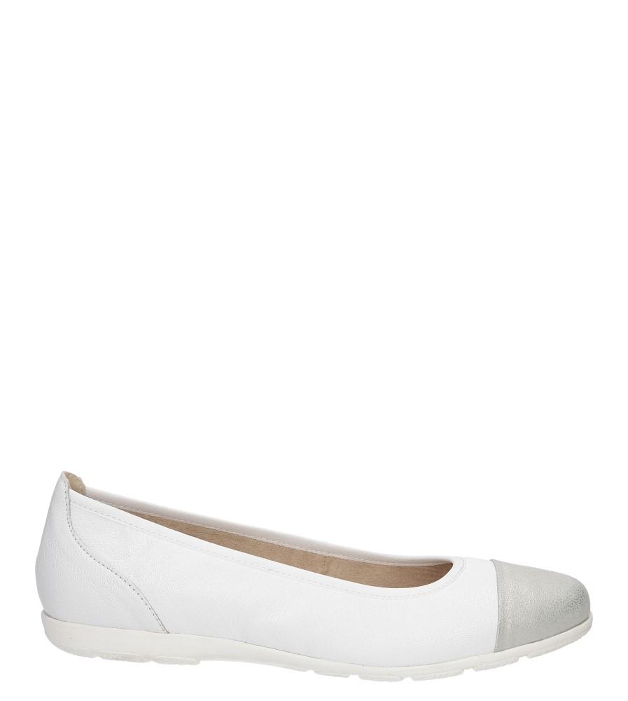 Damskie BALERINY CAPRICE 9-22102-26 biały;srebrny;