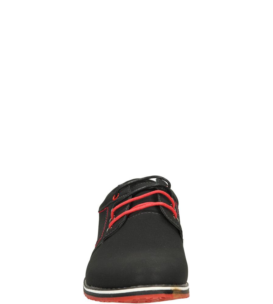 Męskie PÓŁBUTY CASU 9F-BK85889E czarny;czerwony;