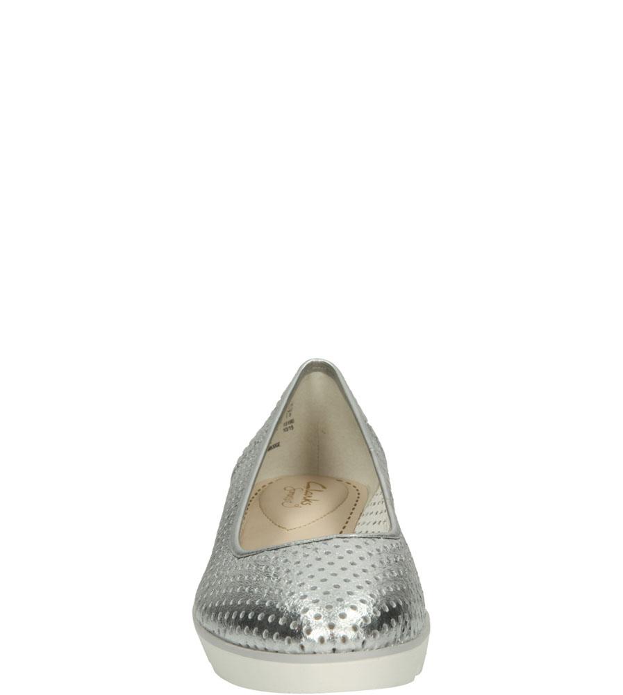 BALERINY CLARKS EVIE BUZZ 26117591 kolor srebrny