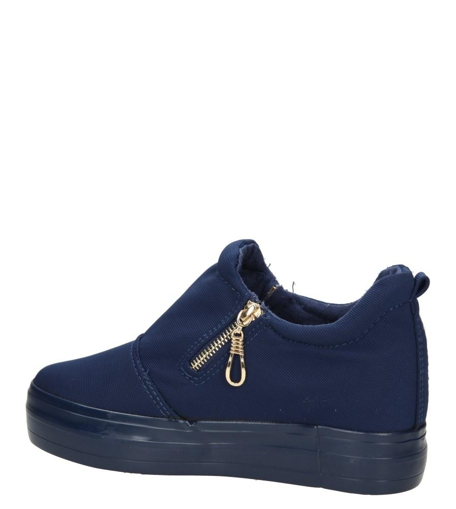 Damskie CREEPERSY CASU F108 niebieski;;