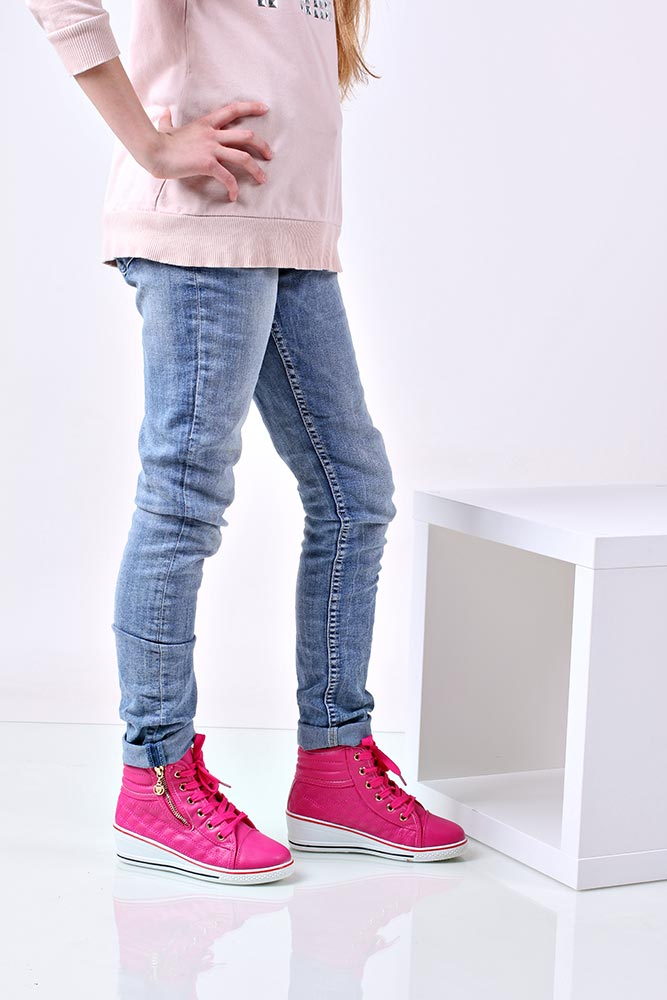 Dziecięce TRAMPKI MB-5 różowy;;