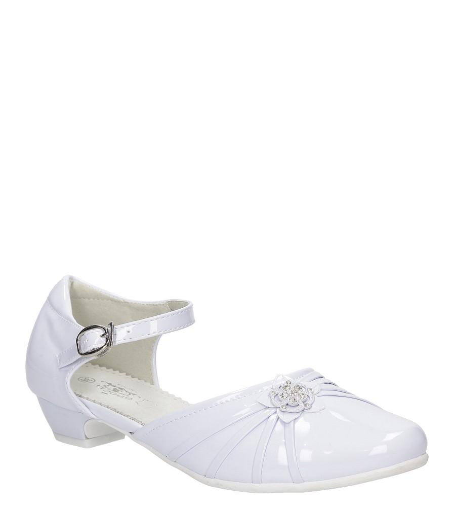 Białe buty komunijne Casu 5KM-129 producent Casu