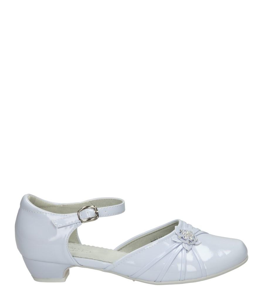 Białe buty komunijne Casu 5KM-129 sezon Wczesna wiosna