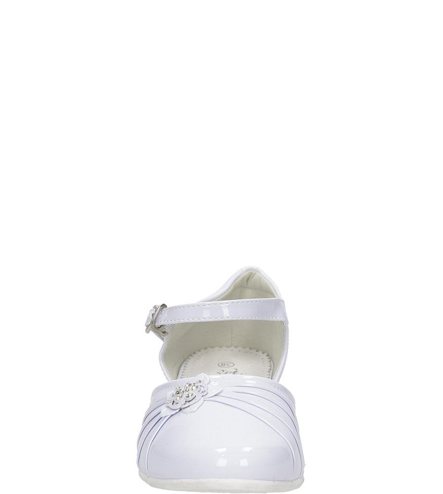 Białe buty komunijne Casu 5KM-129 kolor biały, jasny niebieski