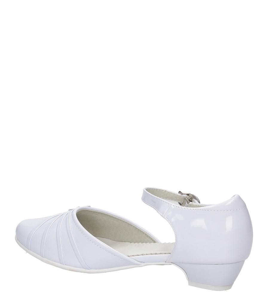 Białe buty komunijne Casu 5KM-129 wysokosc_obcasa 2.5 cm
