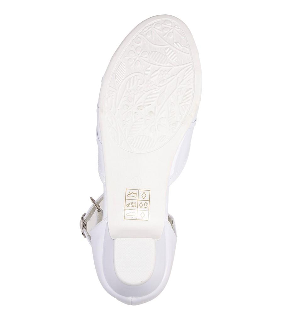 Białe buty komunijne Casu 5KM-129 wierzch skóra ekologiczna