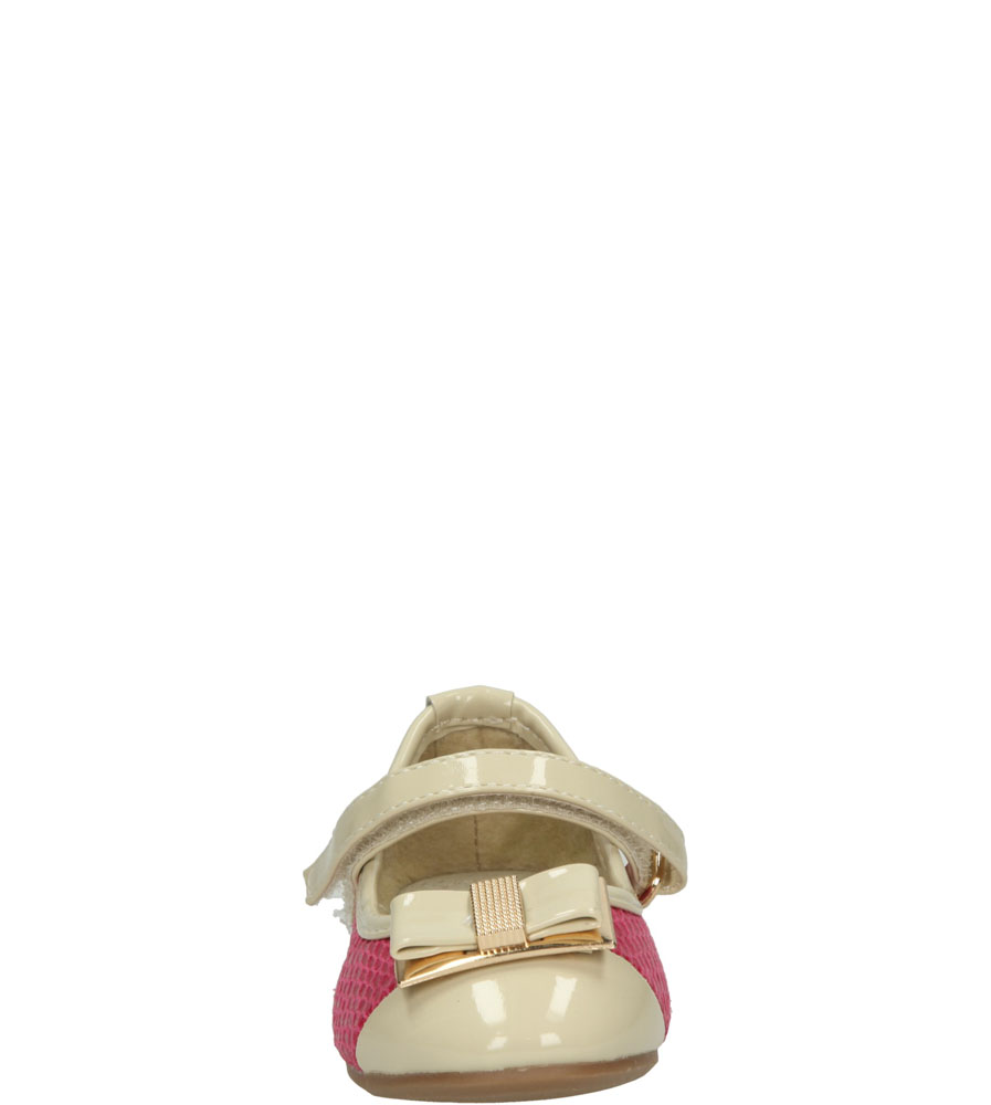 Dziecięce Baleriny Casu 1BL356 różowy;beżowy;