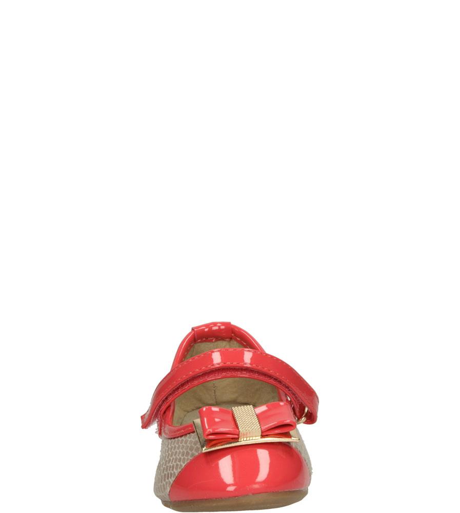Dziecięce BALERINY 1BL356 beżowy;czerwony;