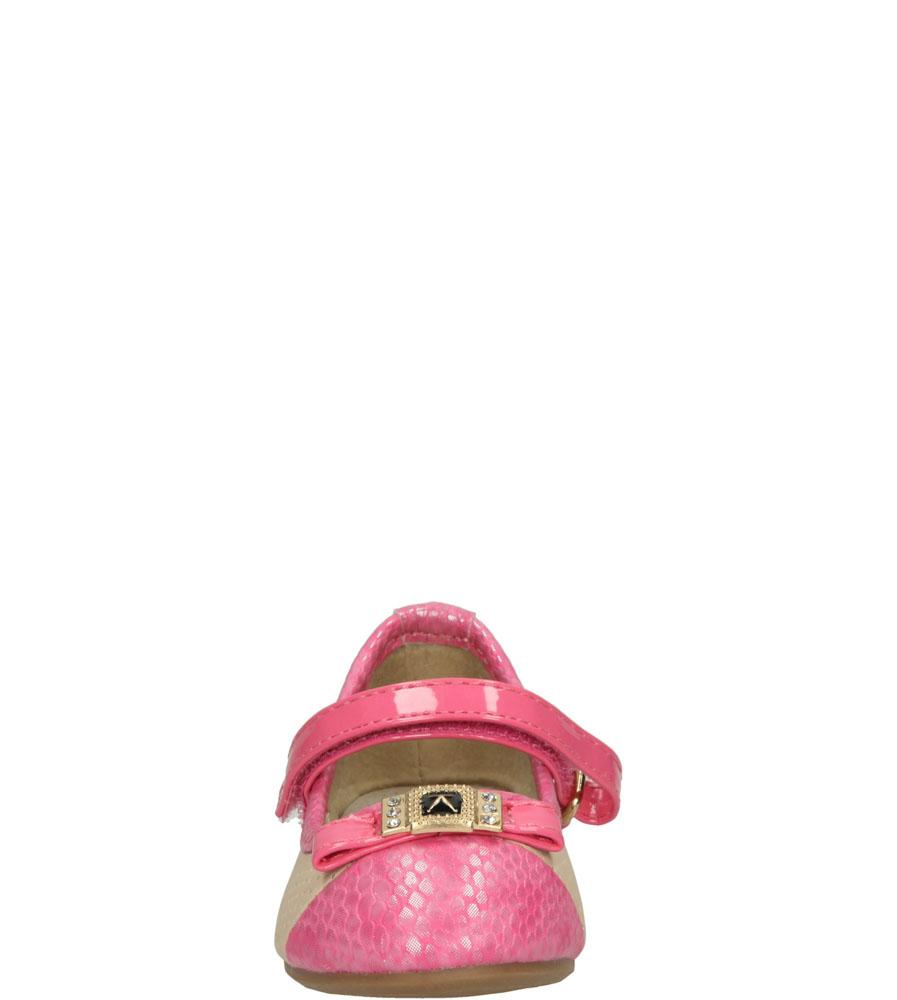 Dziecięce BALERINY 1BL358 beżowy;różowy;