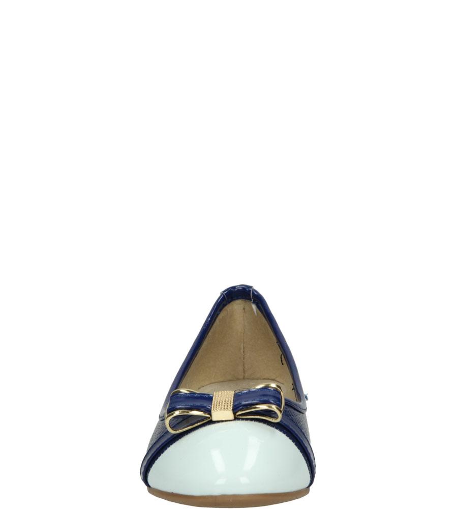 BALERINY 5BL294 kolor biały, granatowy