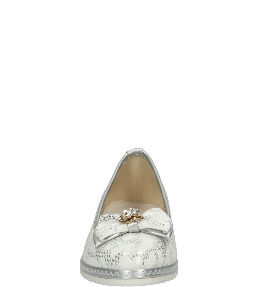 BALERINY 5BL337-A kolor biały, srebrny