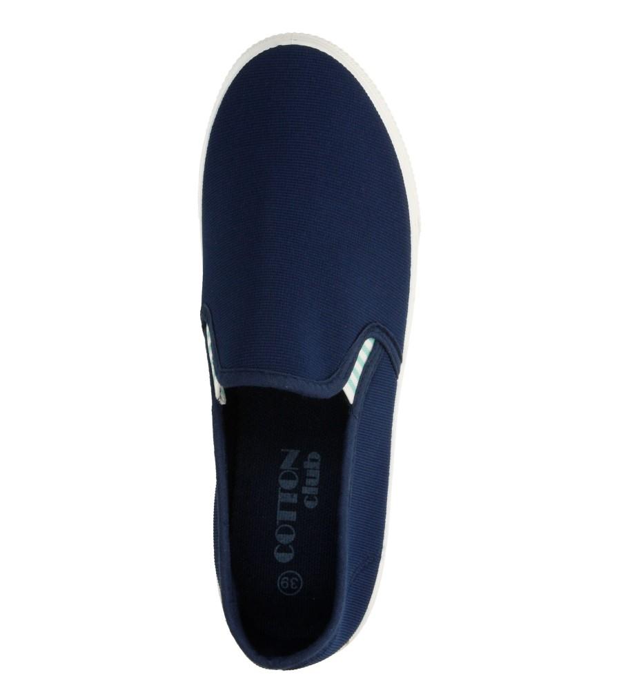 Damskie CREEPERSY CASU 7SP-288-LS niebieski;;