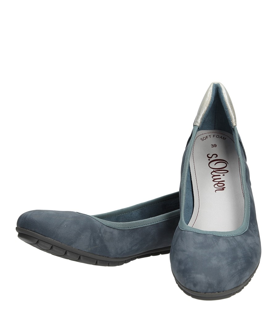 Damskie BALERINY S.OLIVER 5-22119-26 niebieski;;