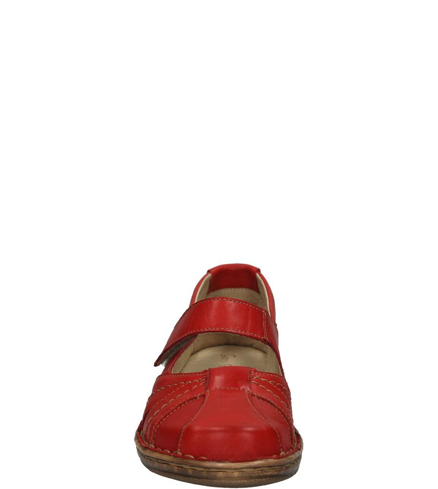 PÓŁBUTY GINO FABIANI 1705 kolor czerwony