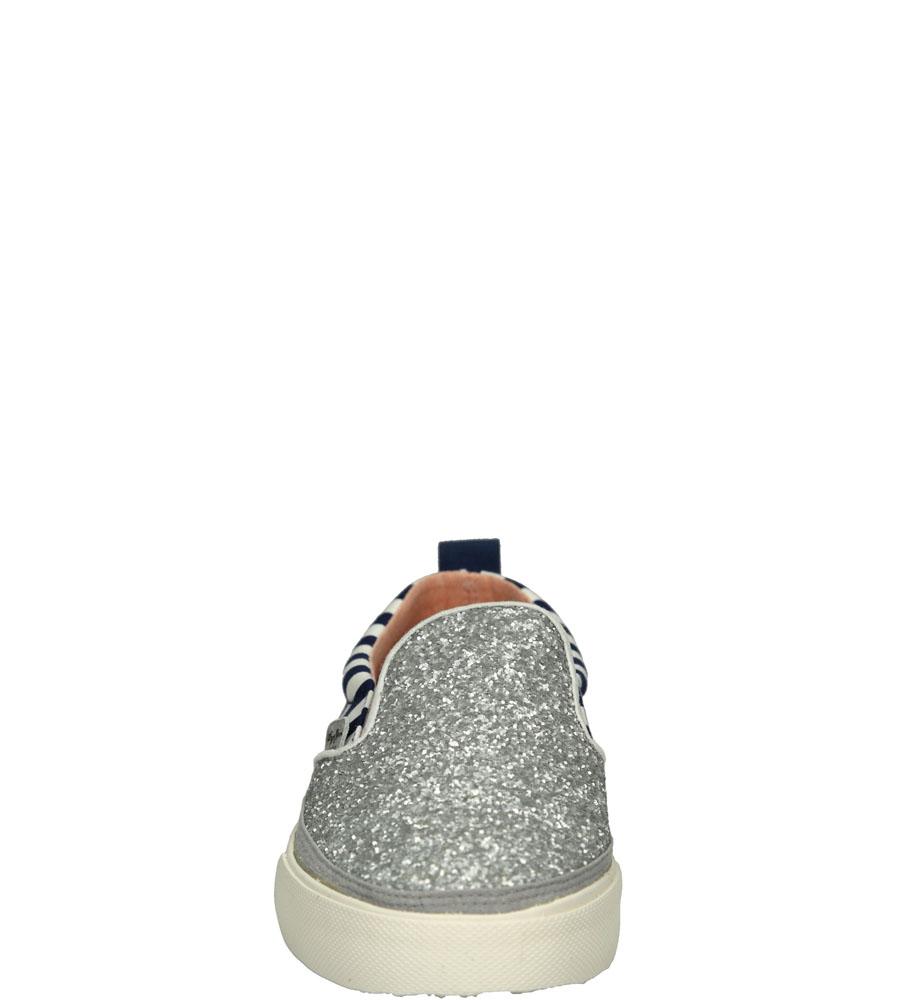 SLIP ON PEPE JEANS PGS30175 kolor biały, niebieski, srebrny