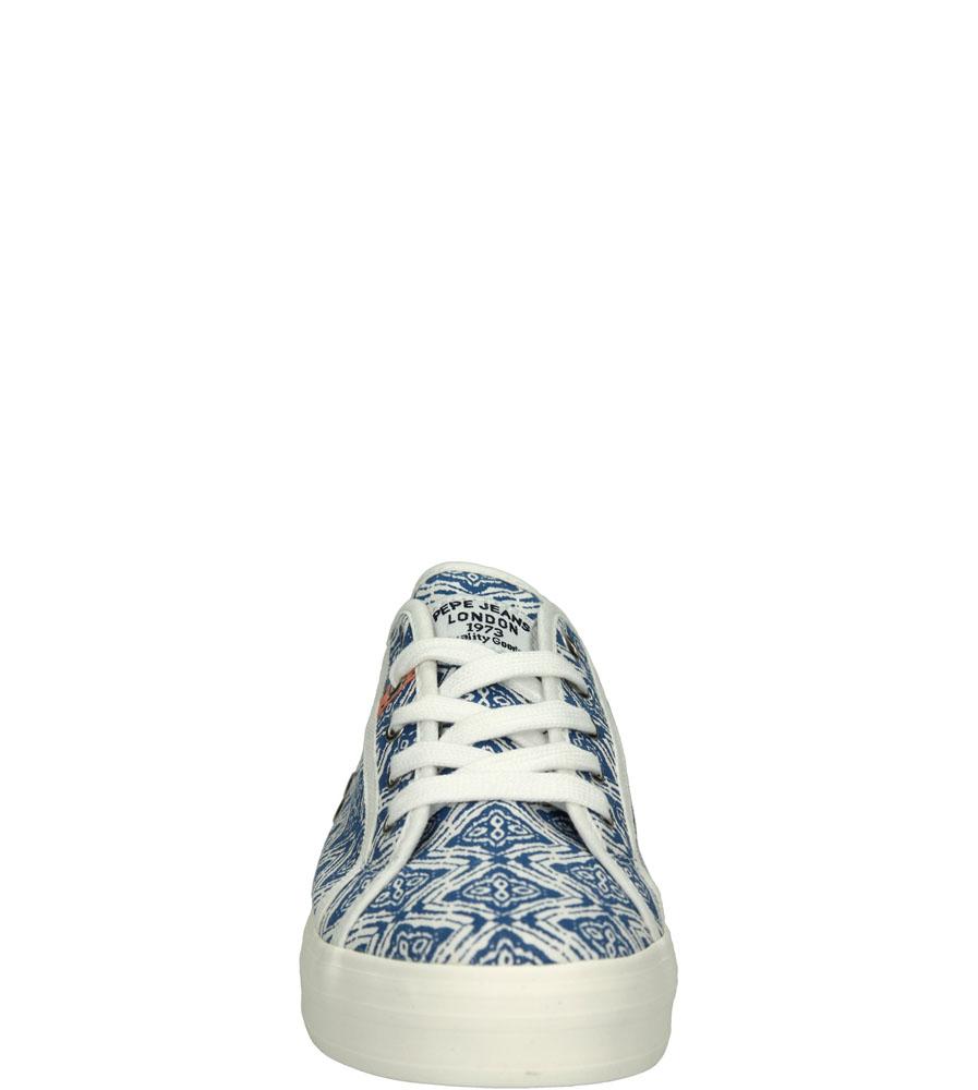 TRAMPKI PEPE JEANS PGS30172 kolor biały, niebieski