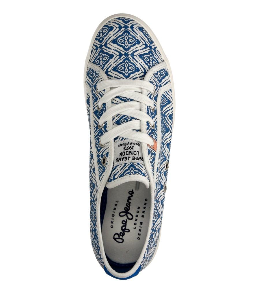 Damskie TRAMPKI PEPE JEANS PGS30172 biały;niebieski;