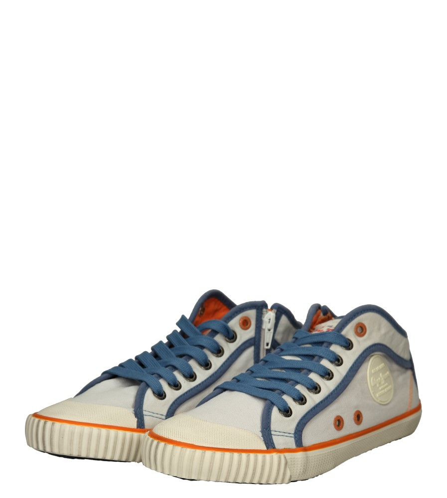 Damskie TRAMPKI PEPE JEANS PLS30236 biały;niebieski;