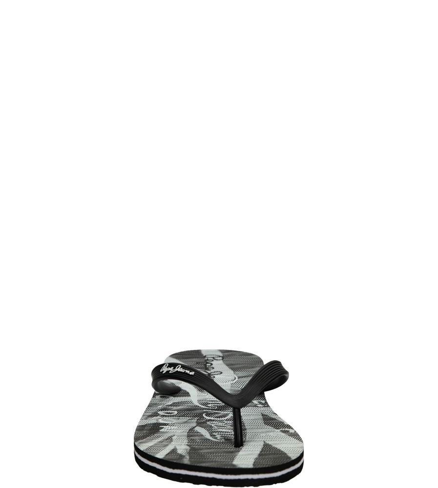 Męskie JAPONKI PEPE JEANS PMS70029 czarny;biały;