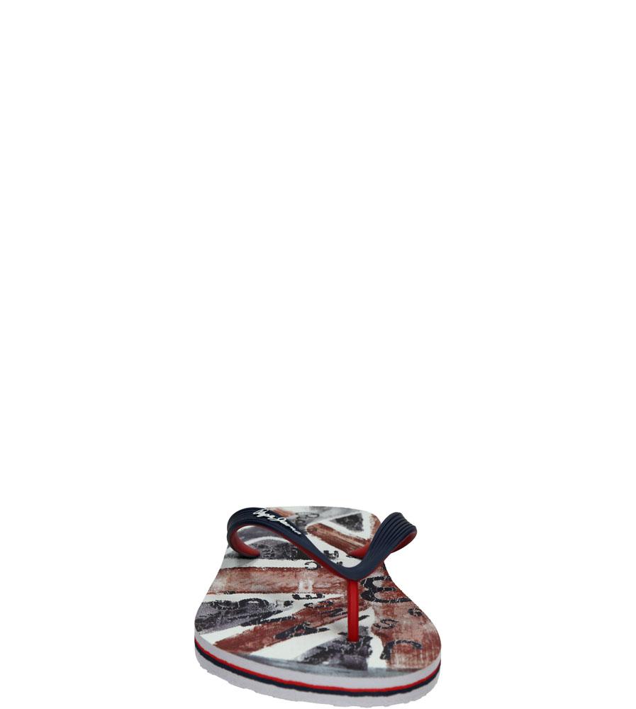 Męskie JAPONKI PEPE JEANS PMS70028 niebieski;czerwony;biały