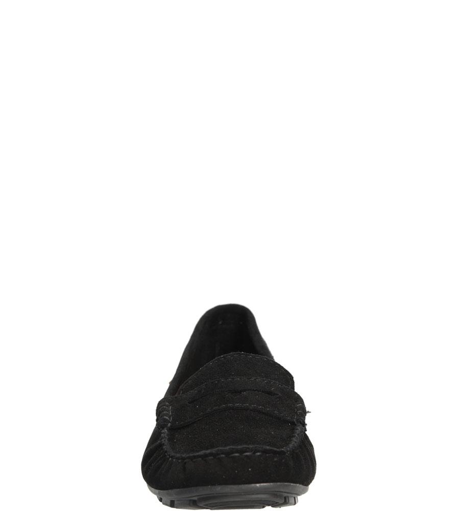 Mokasyny czarne zamszowe Nessi 78306 kolor czarny